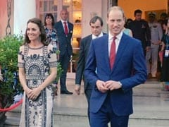 Kate Middleton Ends Day 2 in Black and White Party Dress