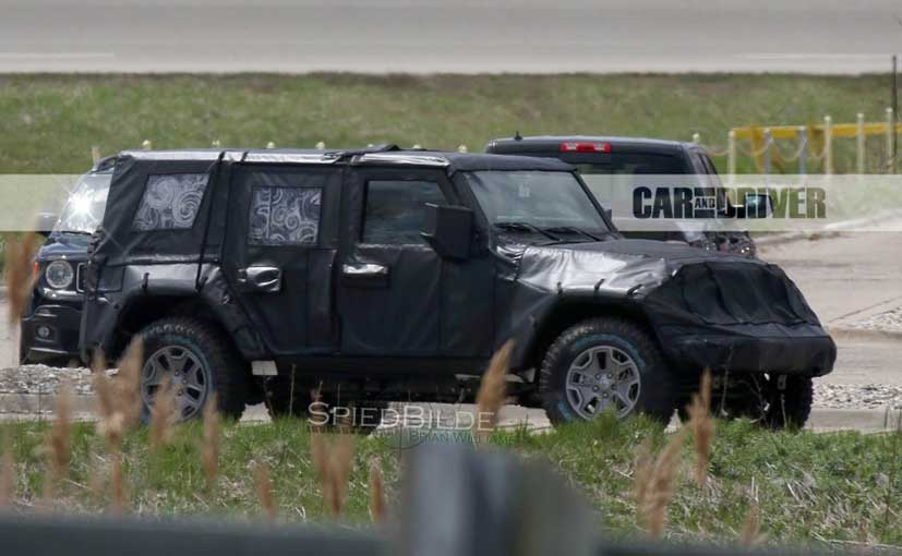 All-new 2017 Jeep Wrangler spied