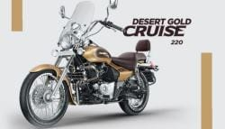 Bajaj Avenger Cruise 220 Launched in New Desert Gold Colour Option