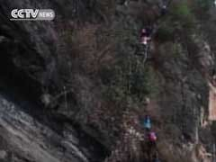 Chinese Schoolkids Climb 2,625-Foot Cliffside Ladder To Get Home. Soon, They'll Have Stairs.