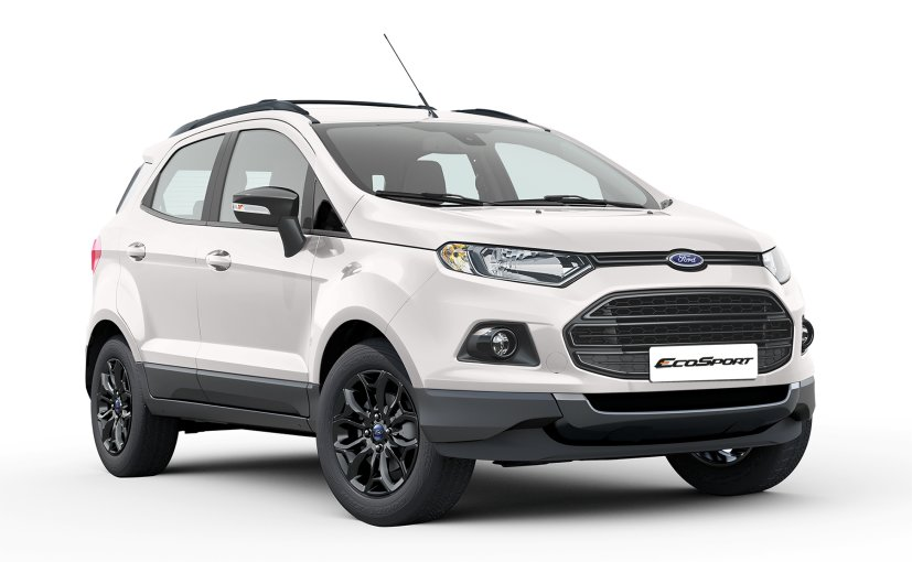 ford ecosport black edition launched prices start at rs lakh ndtv carandbike. Black Bedroom Furniture Sets. Home Design Ideas
