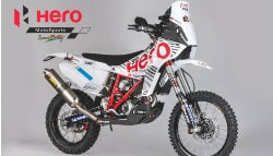 Hero MotoSports Team Rally Signs on CS Santosh
