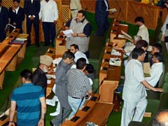 Jammu And Kashmir Assembly: Abdul Rashid Marshalled Out, NC Stages Walkout