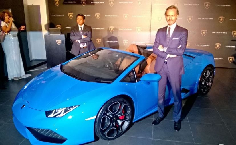 lamborghini huracan spyder lp 610 4 launched in india. Black Bedroom Furniture Sets. Home Design Ideas