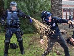 Australia Police Uses Pepper Spray To Break Up Clashes In Melbourne