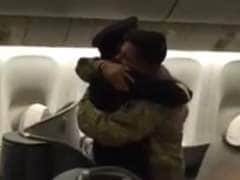 'What Are You Doing On My Aircraft?': Pilot Surprises Son On Flight Home From Deployment