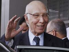 No 'Backdoor' Diplomacy With India, Says Pakistan's Sartaj Aziz