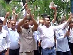 Taxi Drivers Protest Outside Delhi Chief Minister Arvind Kejriwal's Residence