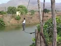Two Ropes - The River-Crossing For A Village In Maharashtra