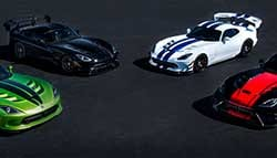 Dodge Celebrates 25th Anniversary of the Viper With 5 Limited Edition Models