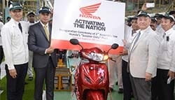 Honda Two Wheelers Inaugurate 2nd Scooter Assembly Line at Its Gujarat Plant