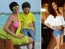 Best of Both Worlds: Mandira Bedi and Karishma Tanna's Vacation Pics