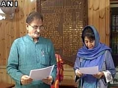 Mehbooba Mufti Takes Oath As Member Of Jammu And Kashmir Assembly
