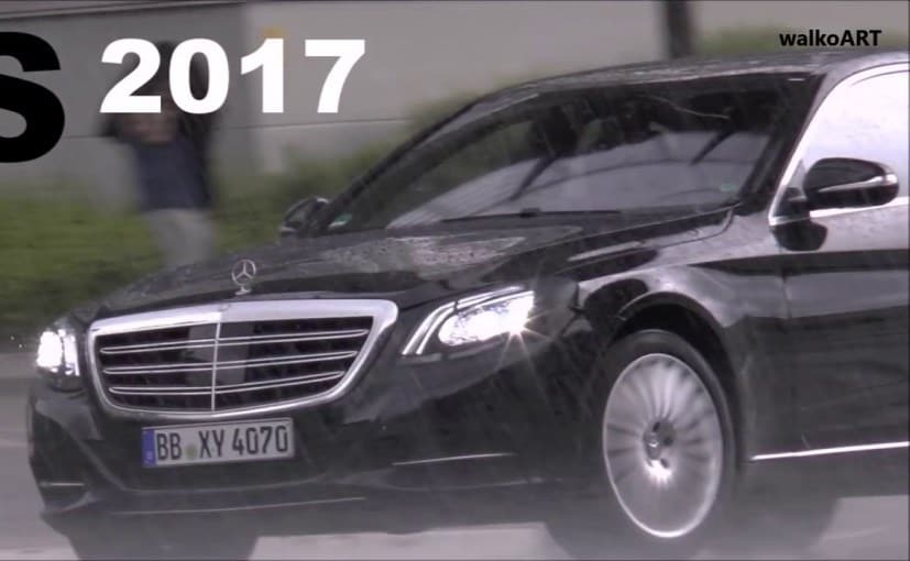 2017 mercedes benz s class facelift spotted testing again. Black Bedroom Furniture Sets. Home Design Ideas