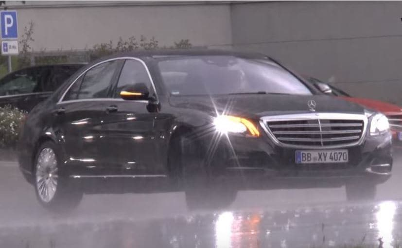 2017 mercedes benz s class facelift spotted testing again ndtv. Black Bedroom Furniture Sets. Home Design Ideas
