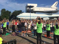 Houston Celebrates Yoga Event At NASA Space Center