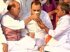Rajnath Singh At His Side, BJP Lawmaker Maheish Girri Ends Hunger Strike