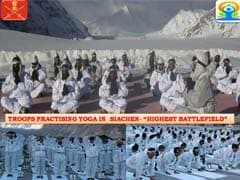 Army Performs Yoga Aasanas At Siachen