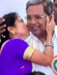 Kiss And Tale: Woman's Surprise Greeting For Siddaramaiah