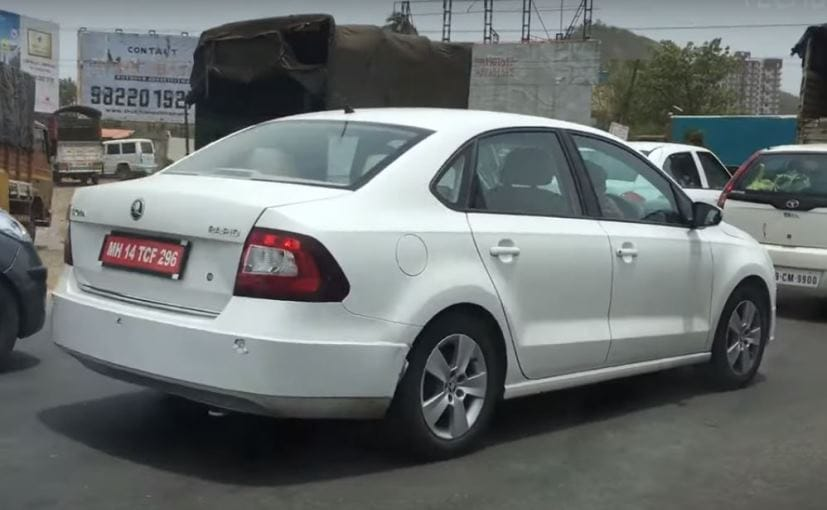 2016 skoda rapid facelift caught testing ahead of launch. Black Bedroom Furniture Sets. Home Design Ideas
