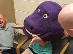 Teen Trapped in Barney Costume for 45 Minutes After Sleepover Prank Goes Wrong