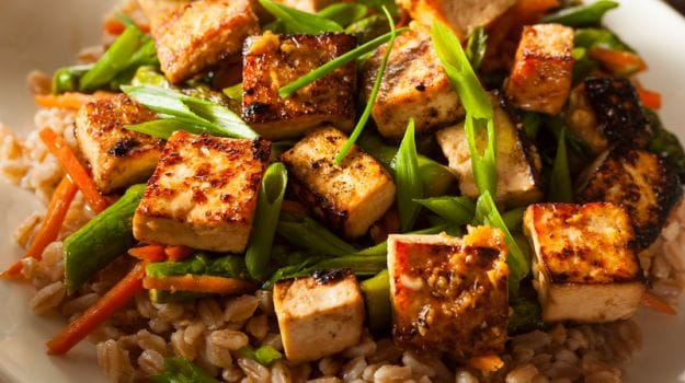 tofu with rice