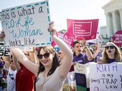 Women Celebrate US Supreme Court Ruling On Abortion Rights
