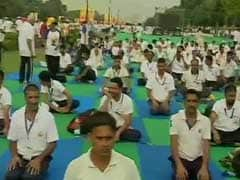 Baba Ramdev Holds Yoga Event At India Gate