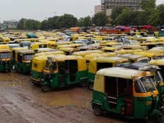 Autorickshaw Drivers On Strike In Gurgaon