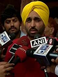 AAP's Bhagwant Mann, Parliament Videographer, Told To Stay Home