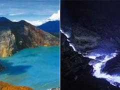 This Volcano Puts On Spectacular Blue Light Show