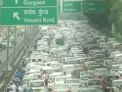 Delhi Crippled By Traffic Jams Again As Rain Pounds City