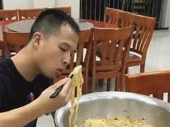 Firefighter Eats Giant Bowl of Noodles, To Instant Social Media Fame
