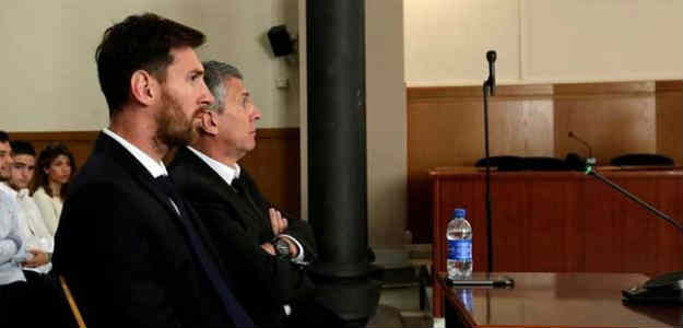 The court found Lionel Messi and his father guilty of three counts of defrauding tax authorities.