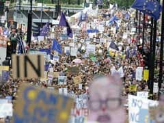 Thousands March Through London To Protest Against Brexit Vote