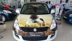 Kabali Fever Takes Over Rajnikanth's Fans' Cars