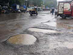 Congress Holds 'Pothole Photo Exhibition' Over Plight Of Mumbai Roads