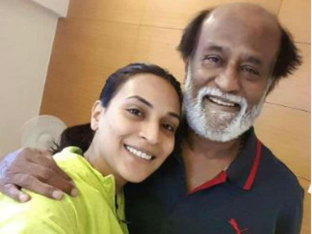 Rajinikanth Visits Satchidananda Ashram With Daughter Aishwaryaa