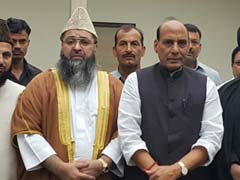 Home Minister Rajnath Singh Meets Group Of Imams Over Kashmir Situation