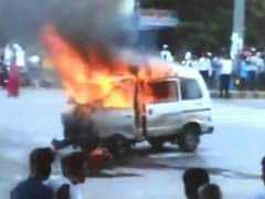 Gujarat Driver Yanked Children From Van Before It Burst Into Flames
