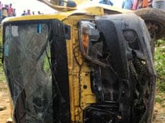 8 Killed After School Van Collides With Train In Uttar Pradesh