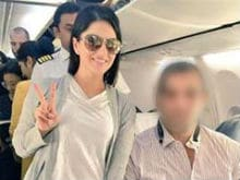 Guess Who Sunny Leone Met on a Plane? Here's a Hint: It's Someone 'Great'