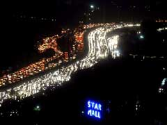 After Rain, Monster Jam In Gurgaon Leaves Commuters On Road For Hours
