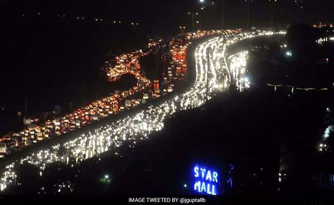 After Massive Rain, Six-Hour Long Traffic Jams In Gurgaon