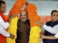 Amit Shah Back On Home Turf, Delivers Pep-Talk To BJP Workers In Gujarat