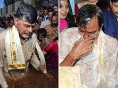 Together But Separate - River Krishna Draws Two Chief Ministers