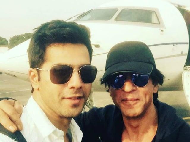 There is a Shah Rukh Khan Selfie in Varun Dhawan's Dream Team Update