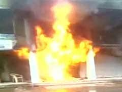 Fire Crackers Warehouse Gutted In Fire In Gurgaon