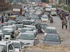 Heavy Rain Causes Rush Hour Chaos In Delhi, Gurgaon, Hyderabad