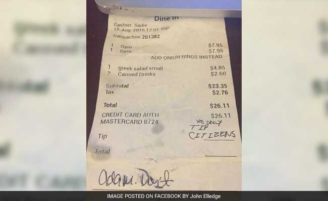 Instead Of Tipping Their Latina Server, Couple Left A Hateful Message